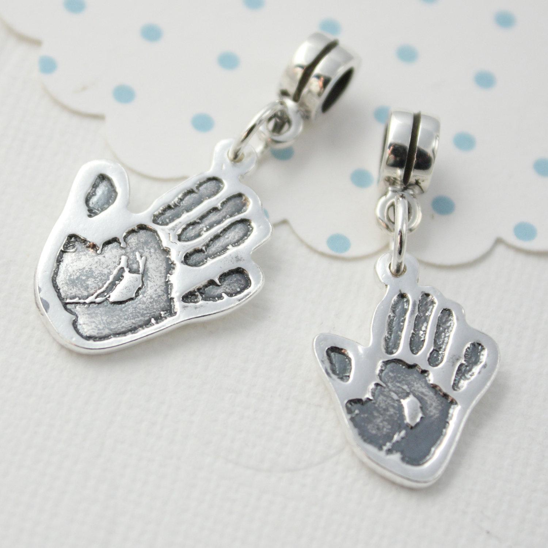 small footprint silhouette silver pandora charm on luulla